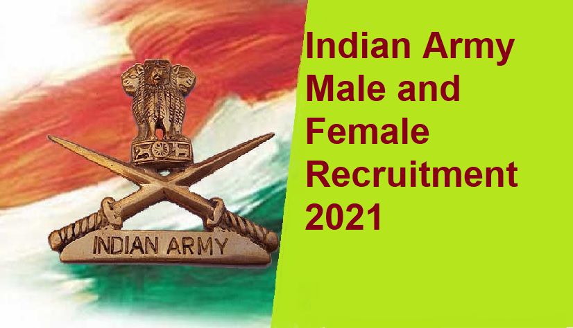 Indian Army Female Recruitment 2021 apply online
